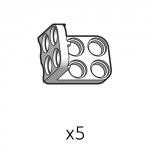 Bracket-Dual-S (SPL-2b2(W)) 5pcs
