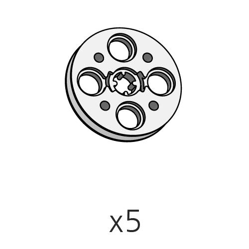 Pulley-Cross-L (SPO-4PC(GR)) 5pcs